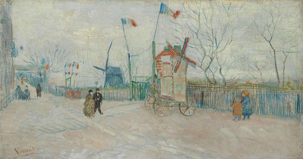 Vincent van Gogh, Impasse des Deux Frères, Paris, Februar–April 1887, Öl/Lw, 35.0 cm x 65.5 cm (Van Gogh Museum, Amsterdam (Vincent van Gogh Foundation)