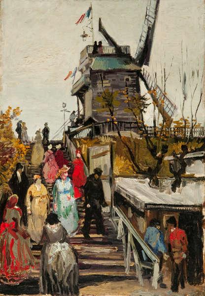 Vincent van Gogh, Le Moulin de Blute-Fin, 1886, Öl/Lw, 55,2 x 38 cm (Museum de Fundatie, Zwolle and Heino/Wijhe, The Netherlands)