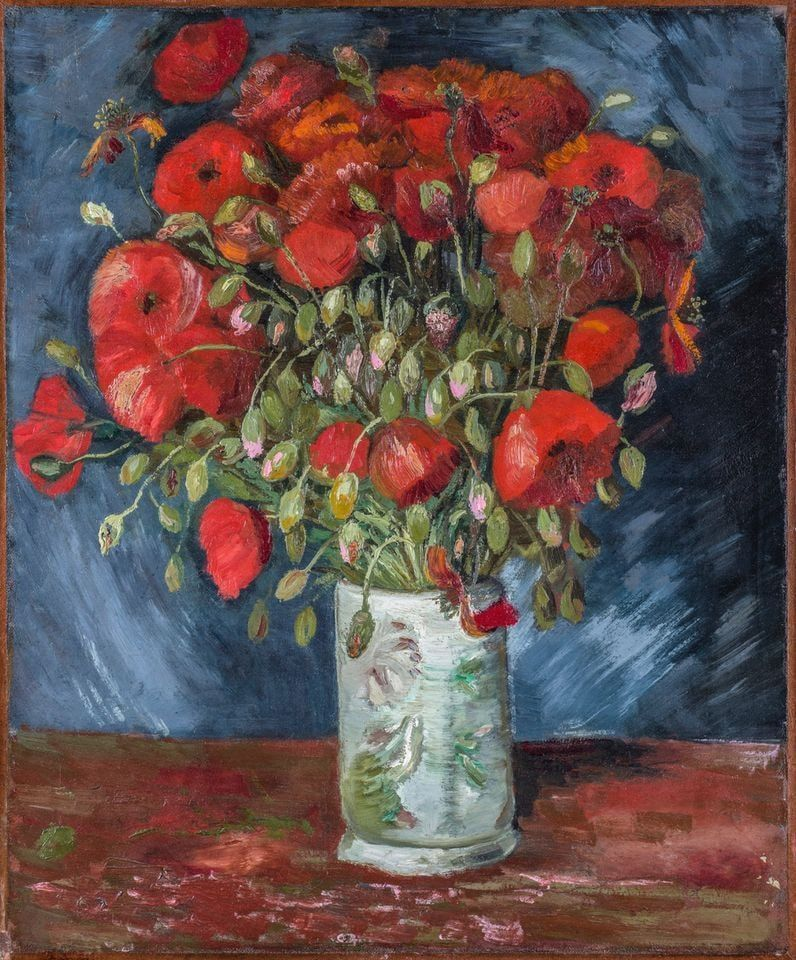 Vincent van Gogh, Mohnblumen in einer Vase, 1886 (Wadsworth Atheneum Museum of Art, Hartcort, Connecticut, Bequest of Anne Parrish Titzell)