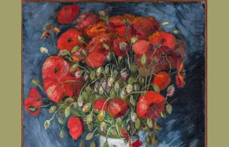 Vincent van Gogh, Mohnblumen in einer Vase, Detail, 1886 (Wadsworth Atheneum Museum of Art, Hartcort, Connecticut, Bequest of Anne Parrish Titzell)