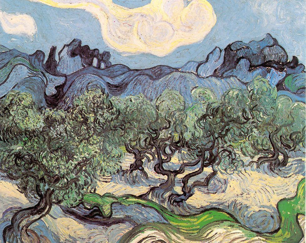 Vincent van Gogh, Olivenbäume mit Les Alpilles im Hintergrund, 18. Juni 1889, 72,6 x 91,4 cm (Museum of Modern Art, New York)