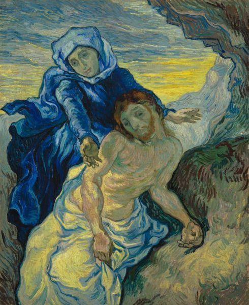 Vincent van Gogh, Pietà (nach / after Delacroix), ca. 7. September 1889, Öl auf Leinwand / Oil on canvas, 73 x 60.5 cm © Van Gogh Museum (Vincent Van Gogh Foundation), Amsterdam (s168V/1962).