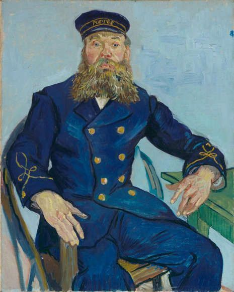 Vincent van Gogh, Postmeister Joseph Roulin, 1888, Öl/Lw, 81,3 x 65,4 cm (Museum of Fine Arts, Boston, Gift of Robert Treat Paine, 2nd)
