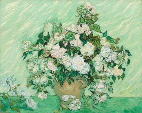 Vincent van Gogh, Rosen, 1890, Öl/Lw, 71 x 90 cm (National Gallery of Art, Washington D. C., Gift of Pamela Harriman in memory of W. Averell Harriman, 1991.67.1)