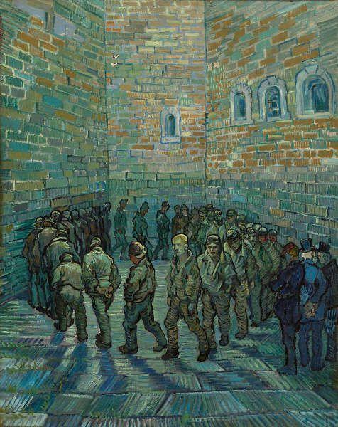 Vincent van Gogh, Rundgang im Gefängnishof, Februar 1890, Öl/Lw, 80 х 64 cm (Pushkin Museum, Moskau)