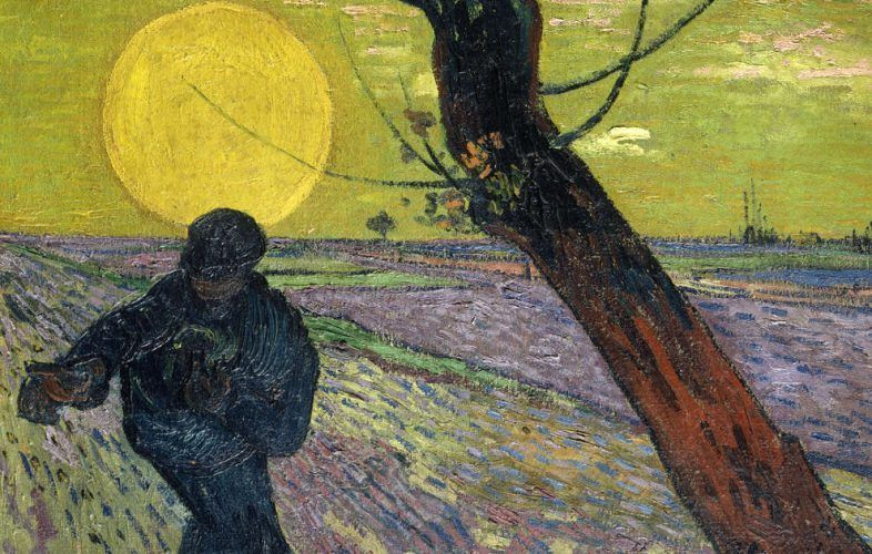Vincent van Gogh, Sämann bei Sonnenuntergang, Detail, 1888, Öl/Lw, 73,5 x 93 cm (© Sammlung Emil Bührle, Zürich, Foto: SIK-ISEA, Zürich (J.-P. Kuhn)
