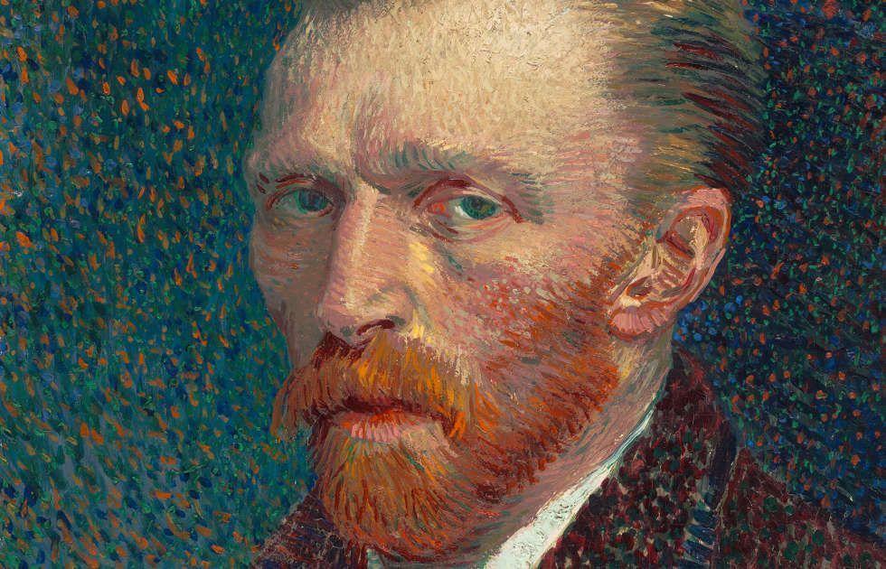 Vincent van Gogh, Selbstbildnis, Detail, 1887, Öl auf Malpappe, montiert auf parkettierter Holztafel, 44 x 32,5, cm (The Art Institute of Chicago, Joseph Winterbotham Collection)