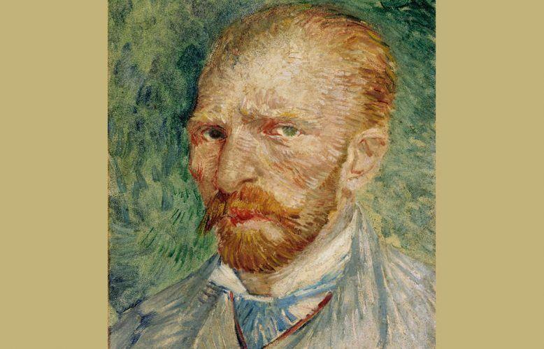 Vincent van Gogh, Selbstporträt, Detai, 1887, Öl/Karton, 32,8 x 24 cm (Kröller-Müller Museum, Otterlo © Indien van Toepassing, Amsterdam)