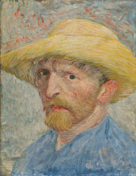Vincent van Gogh, Selbstporträt,1887, Öl auf Karton auf Holz (Detroit Institute of Arts)