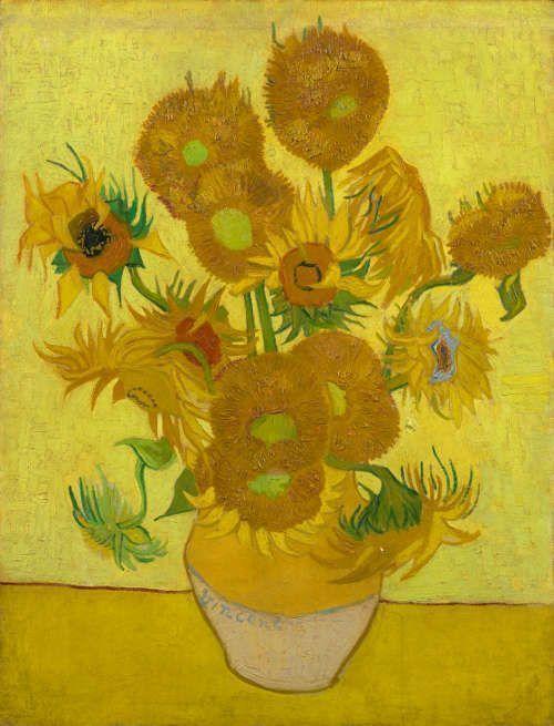 Vincent van Gogh, Sonnenblumen, Arles, Ende Januar 1889, Öl/Lw, 95 cm x 73 cm (Vincent van Gogh Museum, Amsterdam, Vincent van Gogh Foundation)