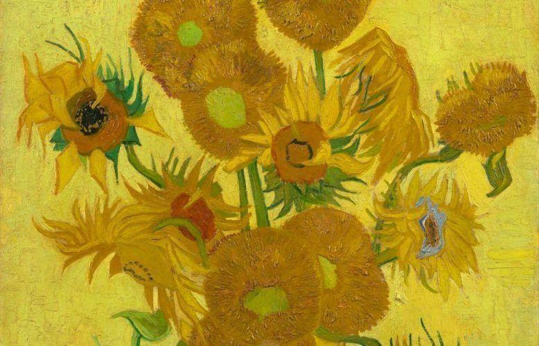 Vincent van Gogh, Sonnenblumen, Detail, Arles, Januar 1889, Öl/Lw, 95 cm x 73 cm (Van Gogh Museum, Amsterdam (Vincent van Gogh Foundation)
