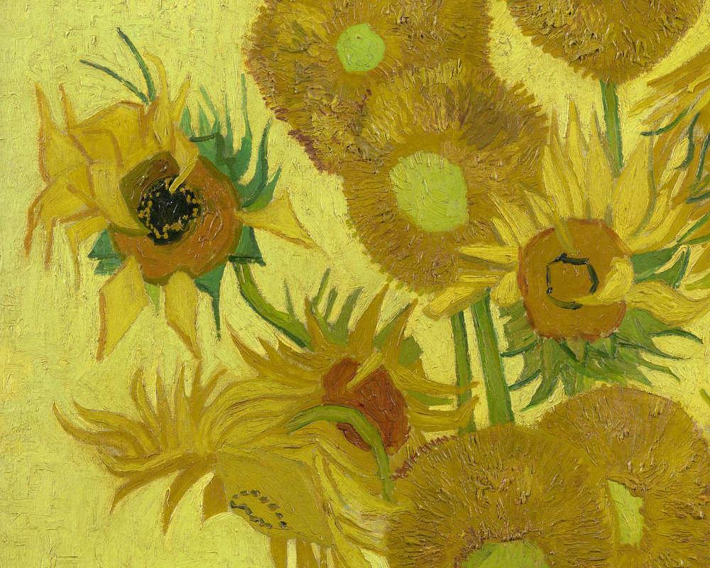 Vincent van Gogh, Sonnenblumen, Detail, Arles, Januar 1889, Öl/Lw, 95 cm x 73 cm (Vincent van Gogh Museum, Amsterdam, Vincent van Gogh Foundation)