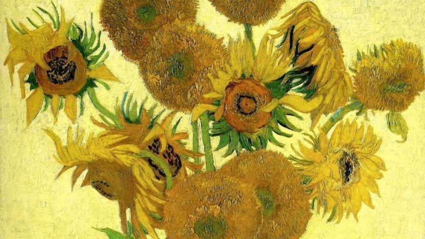 Vincent van Gogh, Sonnenblumen, Detail, 1888, Öl/Lw, 100.5 x 76.5cm (Seiji Togo Memorial Sompo Japan Nipponkoa Museum of Art, Tokyo)