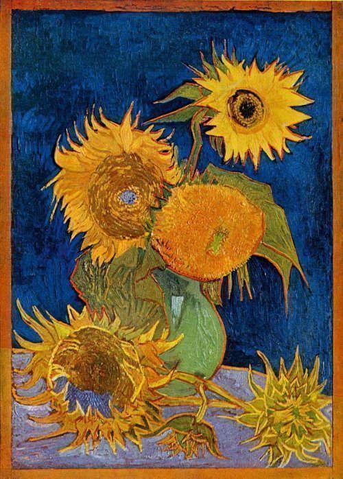 Vincent van Gogh, Sonnenblumen, 21.-26. August 1888, Reproduktion