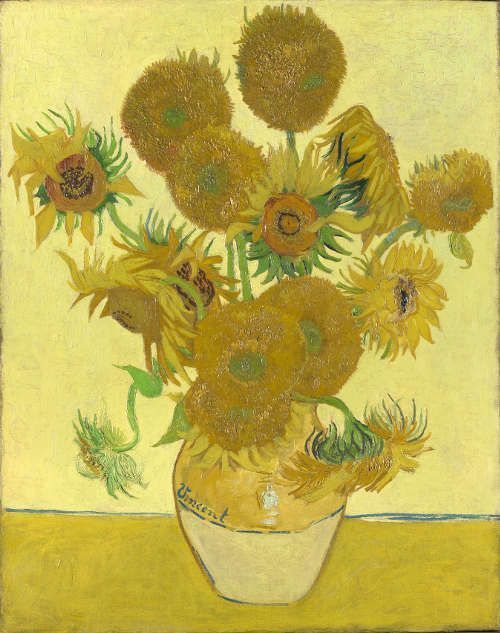 Vincent van Gogh, Sonnenblumen, Ende August 1888, Öl/Lw, 93 x 73 cm (National Gallery, London)