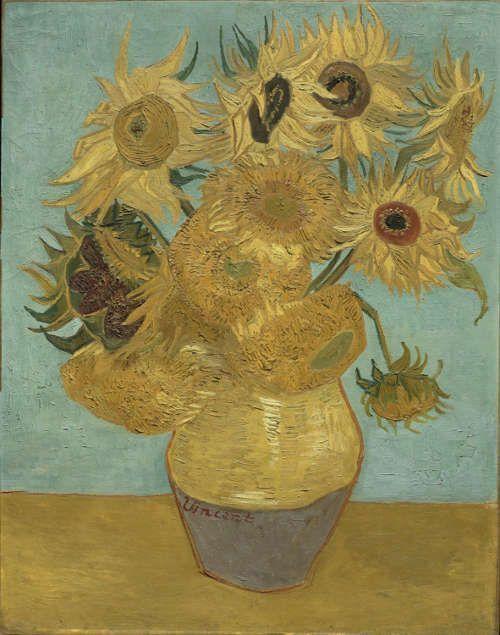 Vincent van Gogh, Sonnenblumen, 1. Dezember 1888 oder Ende Januar 1889, Öl/Lw, 92.4 x 71.1 cm (Philadelphia Museum, The Mr. and Mrs. Carroll S. Tyson, Jr., Collection, 1963, Inv.-Nr. 1963-116-19)