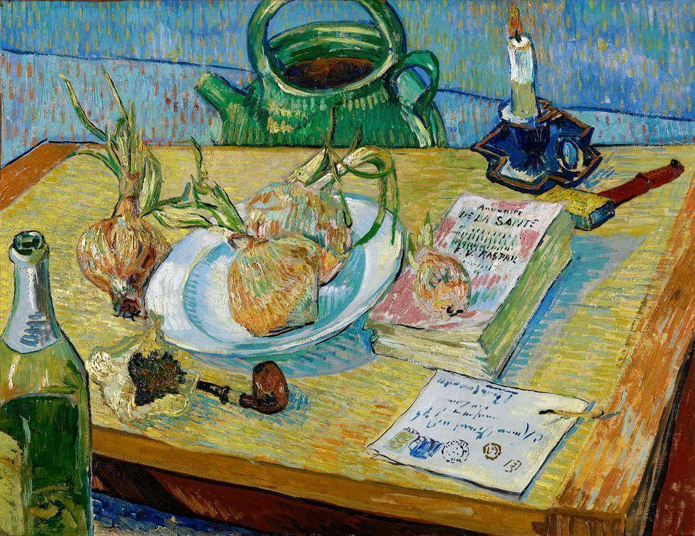 Vincent van Gogh, Stillleben mit Zwiebel, 1889, Öl/Lw (Kröller-Müller Museum, Otterlo)