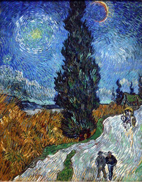 Vincent van Gogh, Straße mit Zypresse und Stern, Mai 1890 (Kröller-Müller Museum, Otterloo)