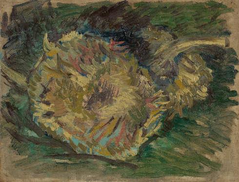 Vincent van Gogh, Verblühte Sonnenblumen, Paris, August–September 1887, Öl/Lw, 21.2 x 27.1 cm (Van Gogh Museum, Amsterdam (Vincent van Gogh Foundation)