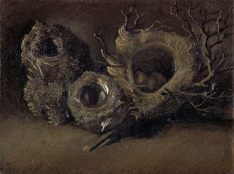 Vincent van Gogh, Vogelnester, Nuenen, Ende September-Anfang Oktober 1885, Öl/Lw, 33,3 x 43,3 cm (Kröller-Müller Museum, Otterlo, Niederlande)