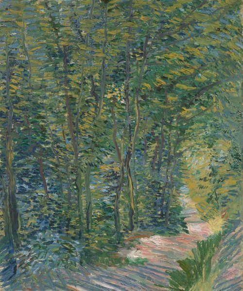 Vincent van Gogh, Waldweg, Paris Mai 1887–Juli 1887, Öl auf Leinwand, 45.3 × 37.7 cm (Van Gogh Museum, Amsterdam / Vincent van Gogh Foundation)