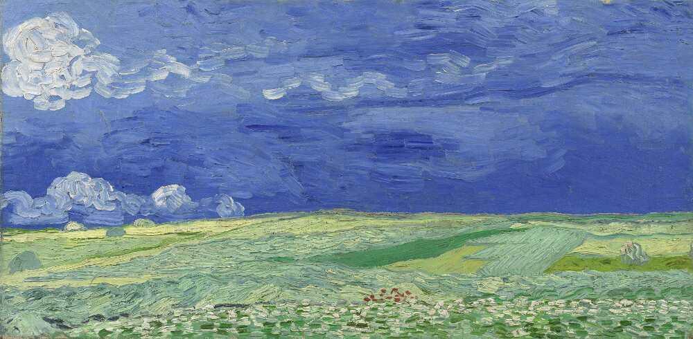 Vincent van Gogh, Weizenfeld unter Gewitterwolken, 1890, Öl auf Leinwand, 50.9 × 101.3 cm (Van Gogh Museum, Amsterdam, Vincent van Gogh Foundation)