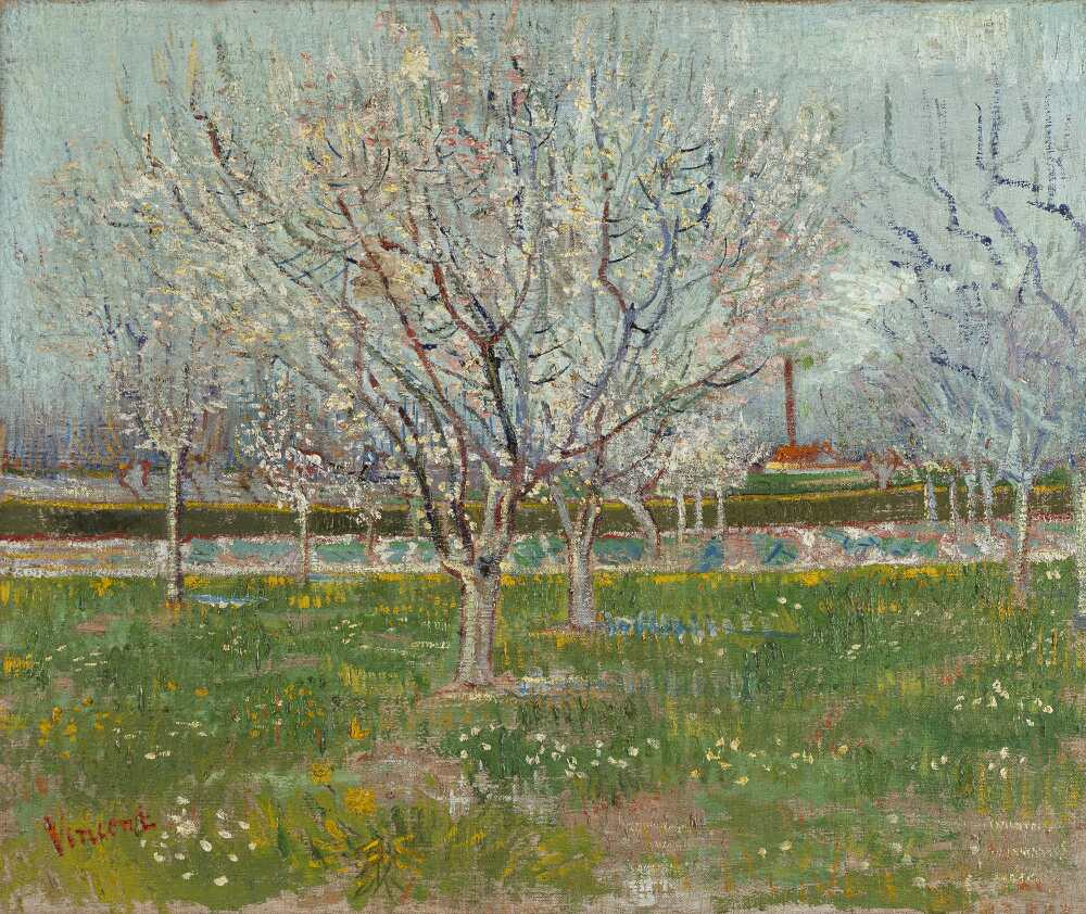 Vincent van Gogh, Obstgarten in Blüten (Pflaumenbäume), 1888, Öl auf Leinwand, 54 x 65.2 cm (National Galleries of Scotland, Presented by Sir Alexander Maitland in memory of his wife)