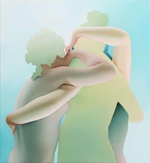 Vivian Greven, Leea, 2017, Öl/Lw, 120 x 110 cm (Courtesy SETAREH, Foto: Ivo Faber)