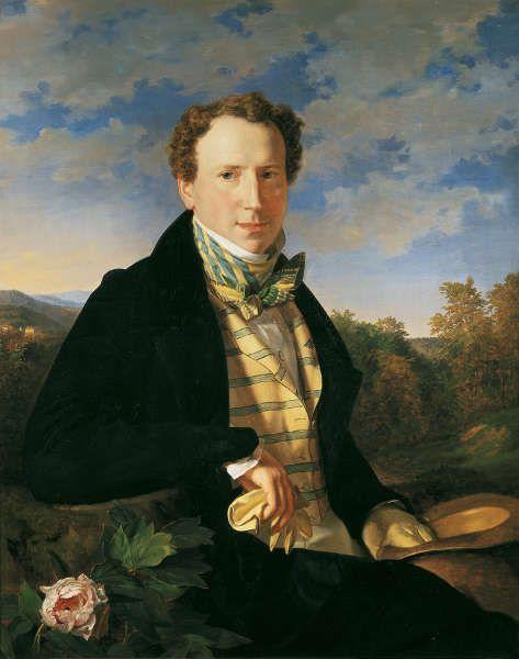 Waldmüller, Selbstporträt in jungen Jahren, 1828 (Belvedere)
