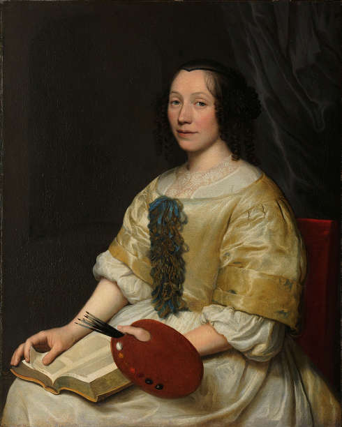 Wallerant Vaillant, Maria van Oosterwijck, sign. und dat. 1671, Öl/Lw, 96 × 78 cm (Rijksmuseum, Amsterdam, Inv.-Nr. SK-A-1292)