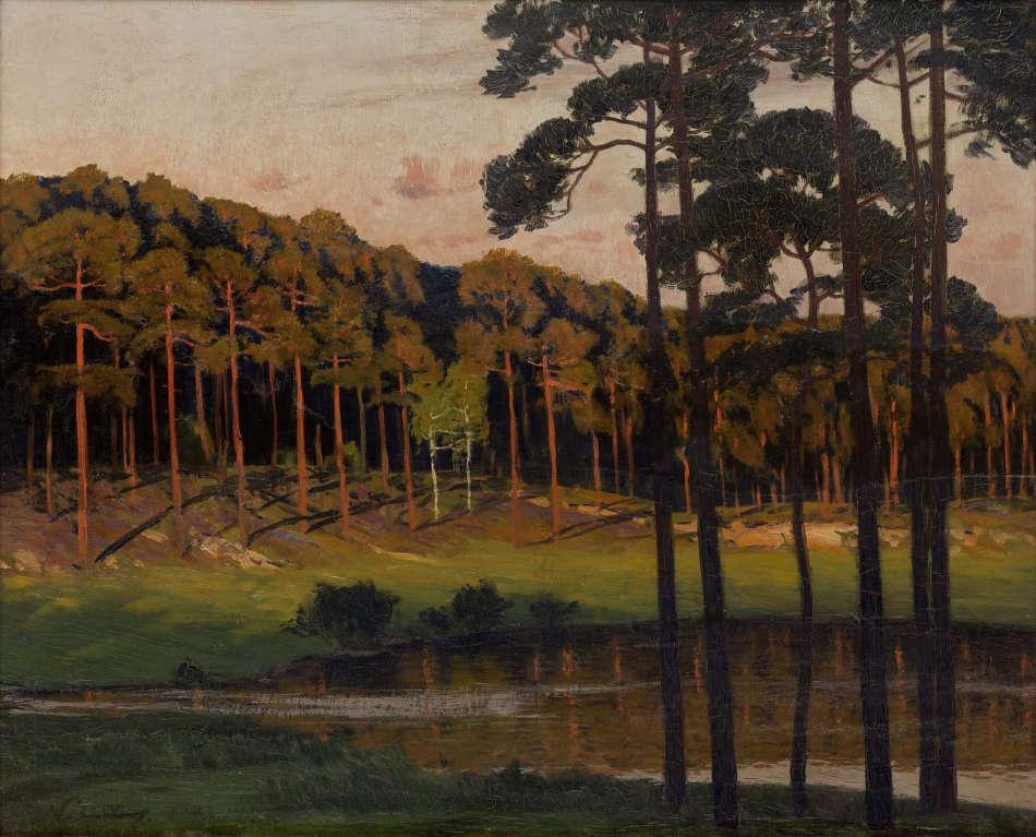 Walter Leistikow, Märkischer Waldsee mit zwei Birken, um 1895, Öl auf Leinwand (Bröhan-Museum, Berlin, Foto: Martin Adam, Berlin)