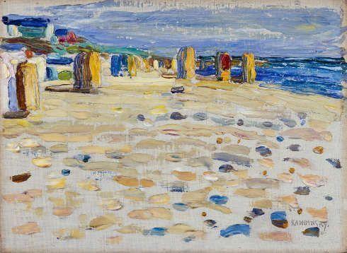 Wassily Kandinsky, Holland – Strandkörbe, Mai-Juni 1904, Städtische Galerie im Lenbachhaus und Kunstbau München
