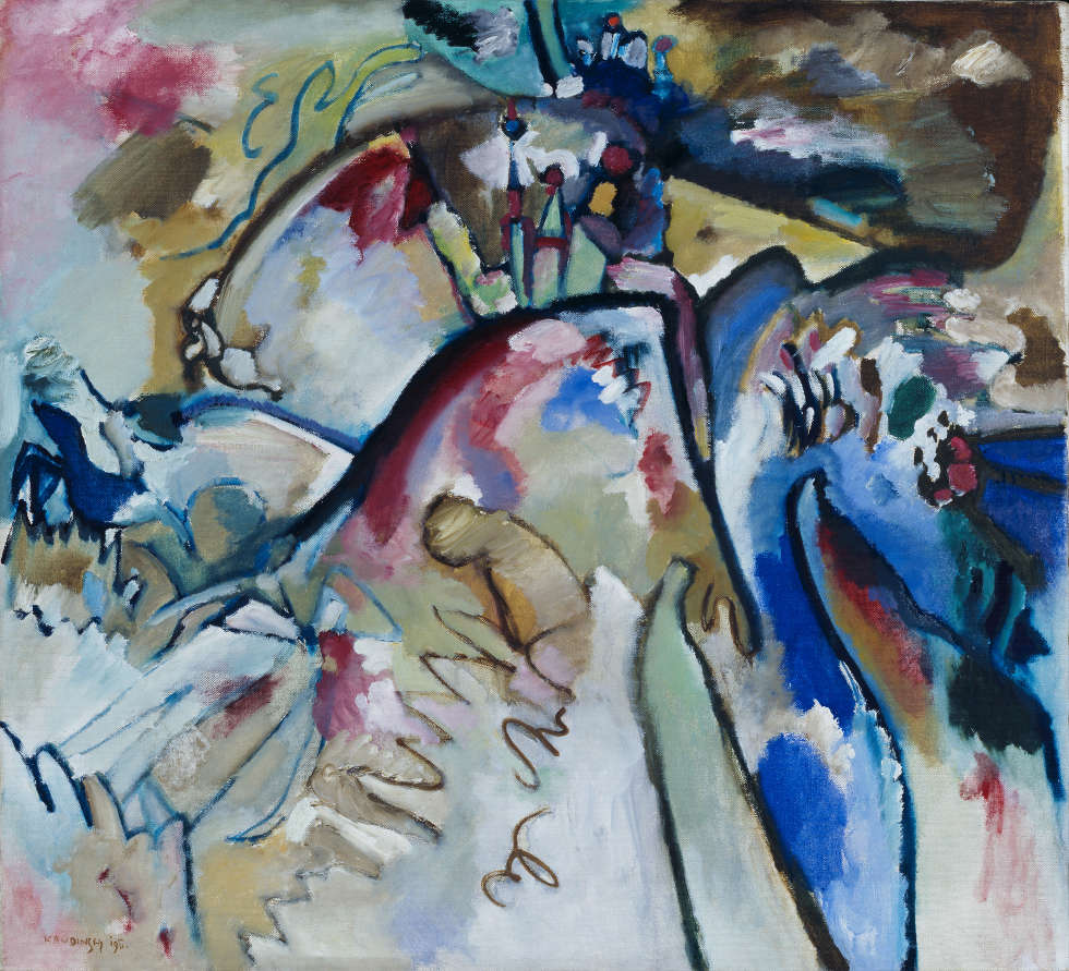 Wassily Kandinsky, Improvisation 21a, 1911 (Städtische Galerie im Lenbachhaus und Kunstbau München, Gabriele Münter Stiftung 1957, Schenkung von Gabriele Münter, ehemals Besitz von Gabriele Münter und Wassily Kandinsky)
