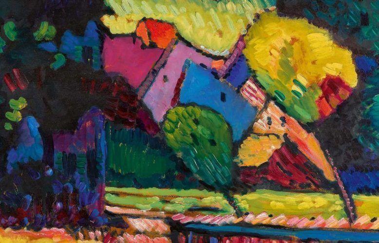 Wassily Kandinsky, Murnau – Landschaft mit grünem Haus, 1909 (Privatsammlung)