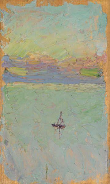 Wassily Kandinsky, Segelboot auf dem Meer, um 1902 (Städtische Galerie im Lenbachhaus und Kunstbau München)