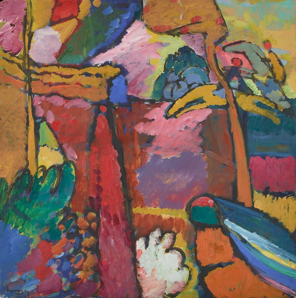 Wassily Kandinsky, Studie für / Study for Improvisation V, 1910, Öl auf Zellstoffkarton / Oil on pulp board, 70.2 x 69.9 cm © The Minneapolis Institute of Art, Gift of Bruce B. Dayton, 67.34.2.