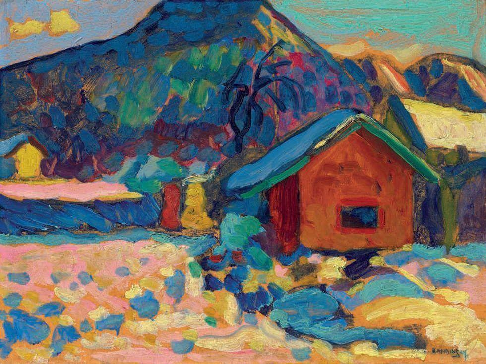 Wassily Kandinsky, Winterstudie mit Berg, 1908 (Privatsammlung)