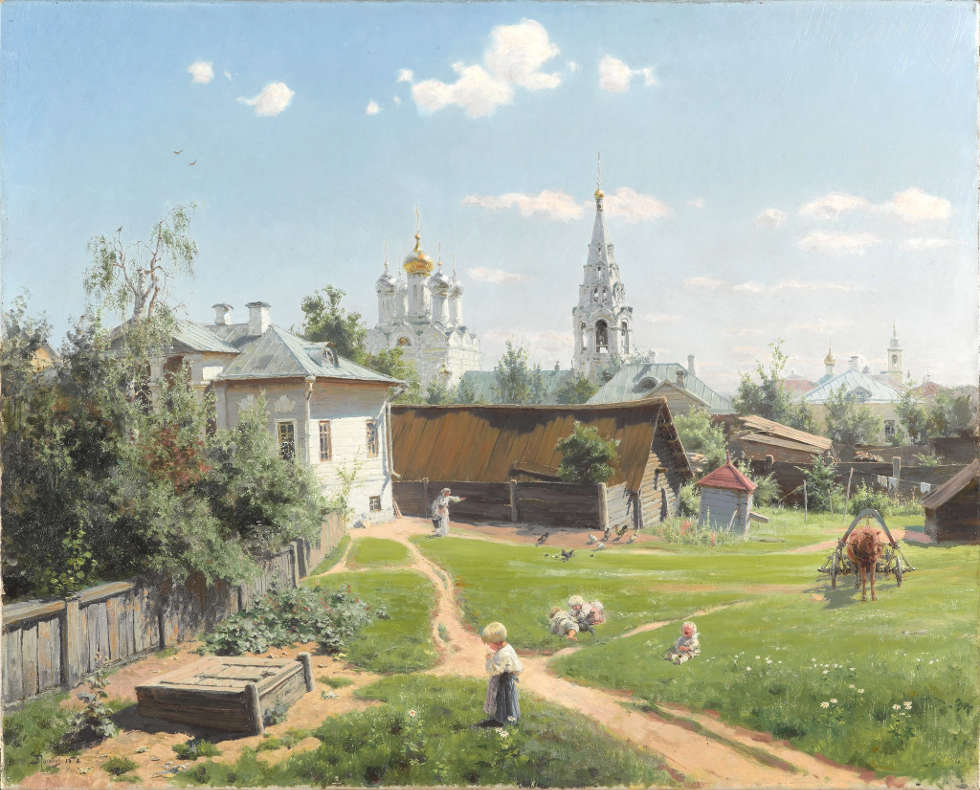 Wassily Polenow, Moskauer Hinterhof, 1878, Öl/Lw, 64.5 х 80.1 cm (Tretjakow-Galerie, Moskau)