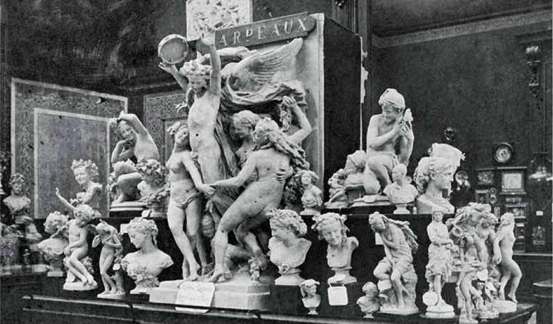 Weltausstellung 1878 mit Werken von Jean-Baptiste Carpeaux