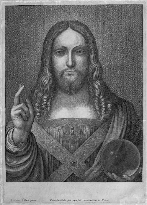 Wenzel Holar, Salvator Mundi nach Leonardo, 1650 (Royal Collection, London)