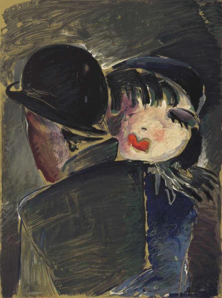 Werner Scholz, Am Bülowbogen, um 1930, Farblithographie (© Berlinische Galerie – Landesmuseum für Moderne Kunst, Fotografie und Architektur. Leihgabe aus Privatbesitz, Hamburg)