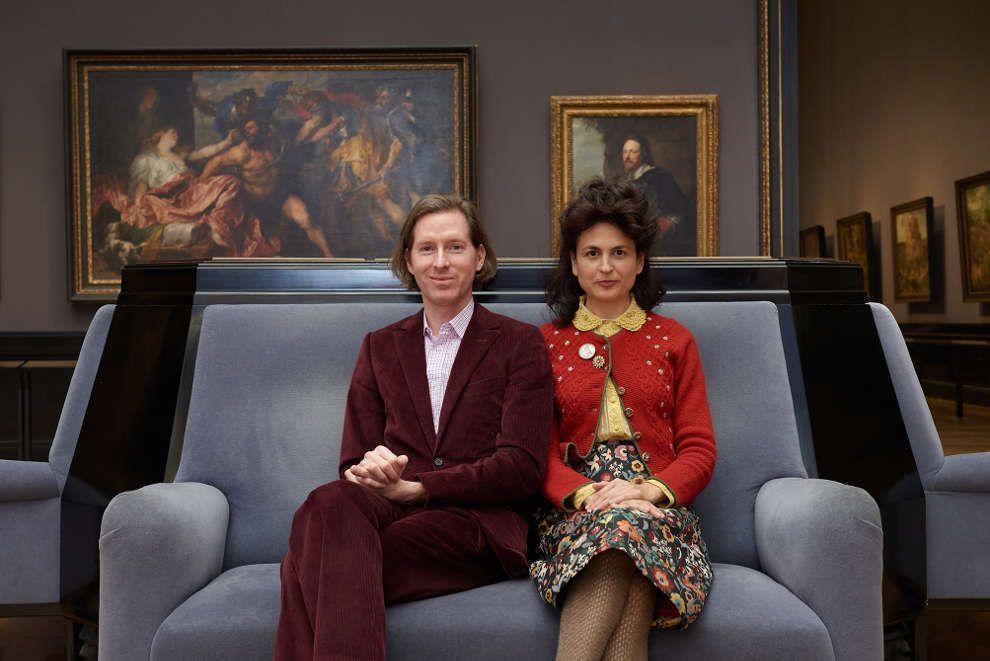 Wes Anderson und Juman Malouf in der Gemäldegalerie, Kunsthistorisches Museum Wien (© KHM-Museumsverband)