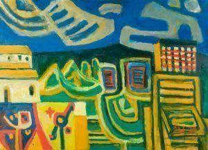 Alfred Wickenburg, Ausblick auf Montegrotto, 1975, Öl auf Leinwand, 100 x 140 cm (© Belvedere, Wien/Leihgabe aus Privatbesitz, New York/ © Henriette Gorton-Wickenburg 2016)