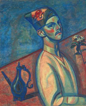 Alfred Wickenburg, Selbstbildnis in persischer Tracht, 1920, Öl auf Leinwand, 81 × 67 cm (LENTOS Kunstmuseum Linz, Foto: Reinhard Haider)
