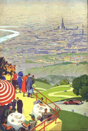 Hermann Kosel, Blick auf Wien von der Höhenstraße, 1936 © Wien Museum