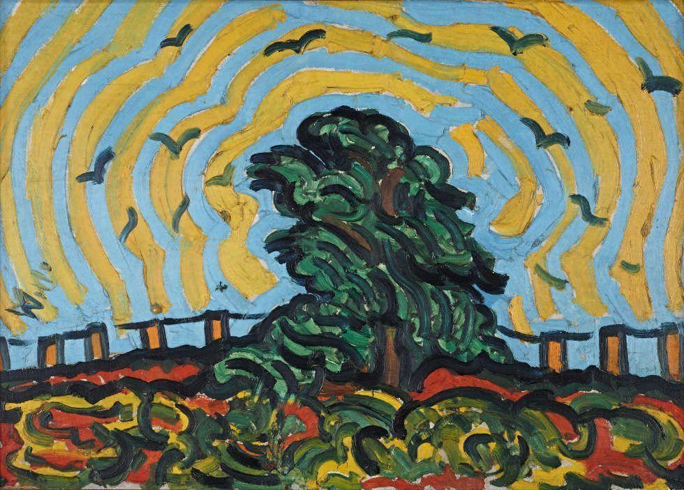 Wilhelm Morgner, Der Baum, 1911, Öl auf Leinwand, 60 x 86 cm (© Museum Wilhelm Morgner, Soest, Foto: Thomas Drebusch)