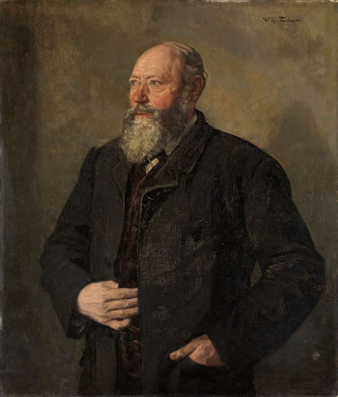 Wilhelm Trübner, Bildnis des Bierbrauers Eisenhart, genannt Der Mächer, 1890, Öl-Lw, 111 x 98 cm (Kunsthalle Karlsruhe)