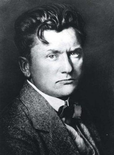 Anonymer Fotograf, Der 37-Jährige Wilhelm Lehmbruck, 1918, Silbergelatineabzug, 23,9 × 17,8 cm (Lehmbruck Museum, Duisburg)