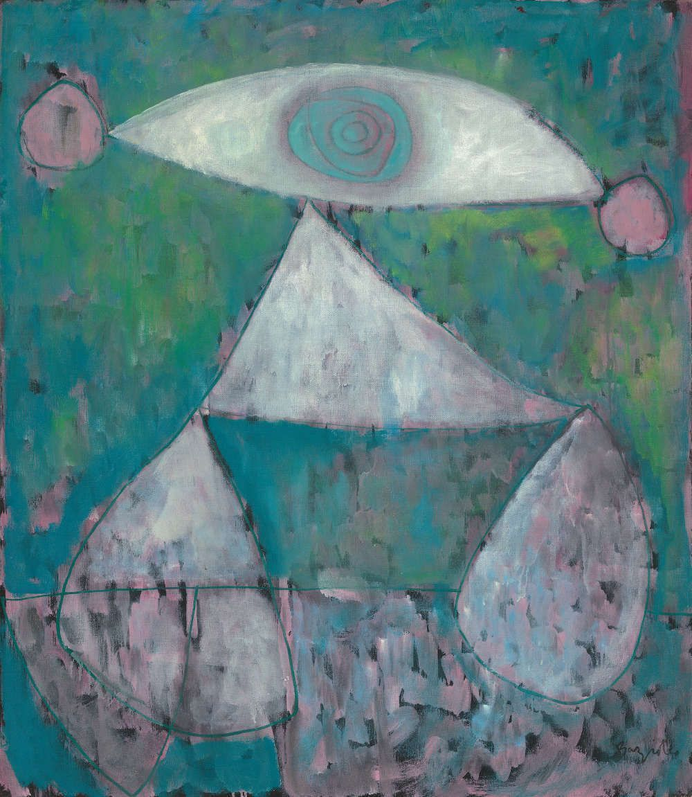 William Baziotes, Pierrot, 1947, Öl/Lw 107 x 91.5 cm (National Gallery of Art, Washington, Ailsa Mellon Bruce Fund, 1984 © Estate of William Baziotes)