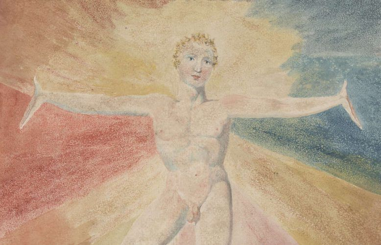 William Blake, Albion Rose, Detail, um 1793, Farbiger Kupferstich, 25 x 21,1 cm (Courtesy of the Huntington Art Collections)